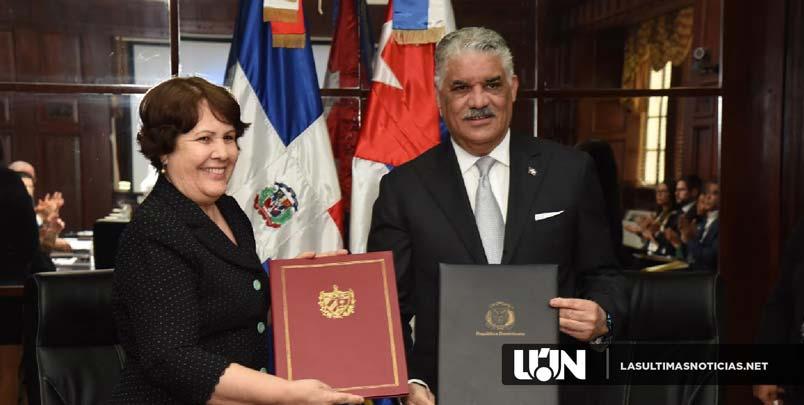 Canciller Miguel Vargas suscribe convenio de cooperación con Cuba.