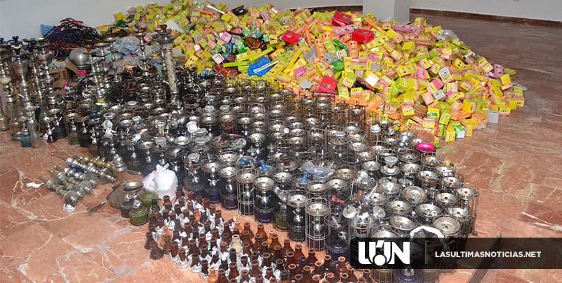 Ministerio Público incauta alrededor de 500 hookahs en centros de diversión de Santo Domingo Este