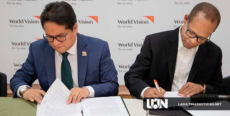 Iglesia el Renuevo y Visión Mundial firman acuerdo para  garantizar derechos de los niños en zonas vulnerables
