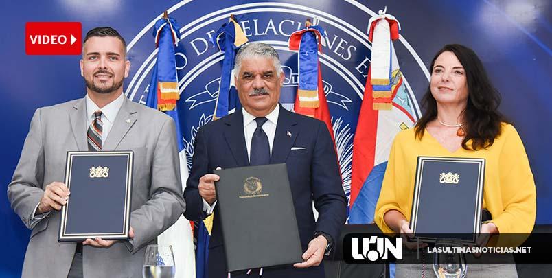 Canciller Miguel Vargas suscribe acuerdos aéreos con Países Bajos, Curazao y San Martín