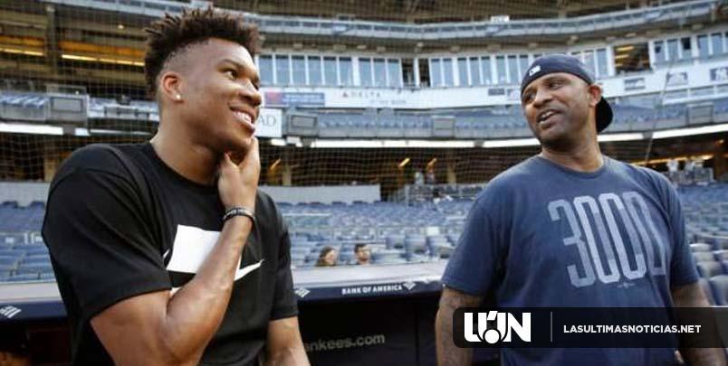 Giannis, el MVP de la NBA se poncha en caja de bateo del Yankee Stadium