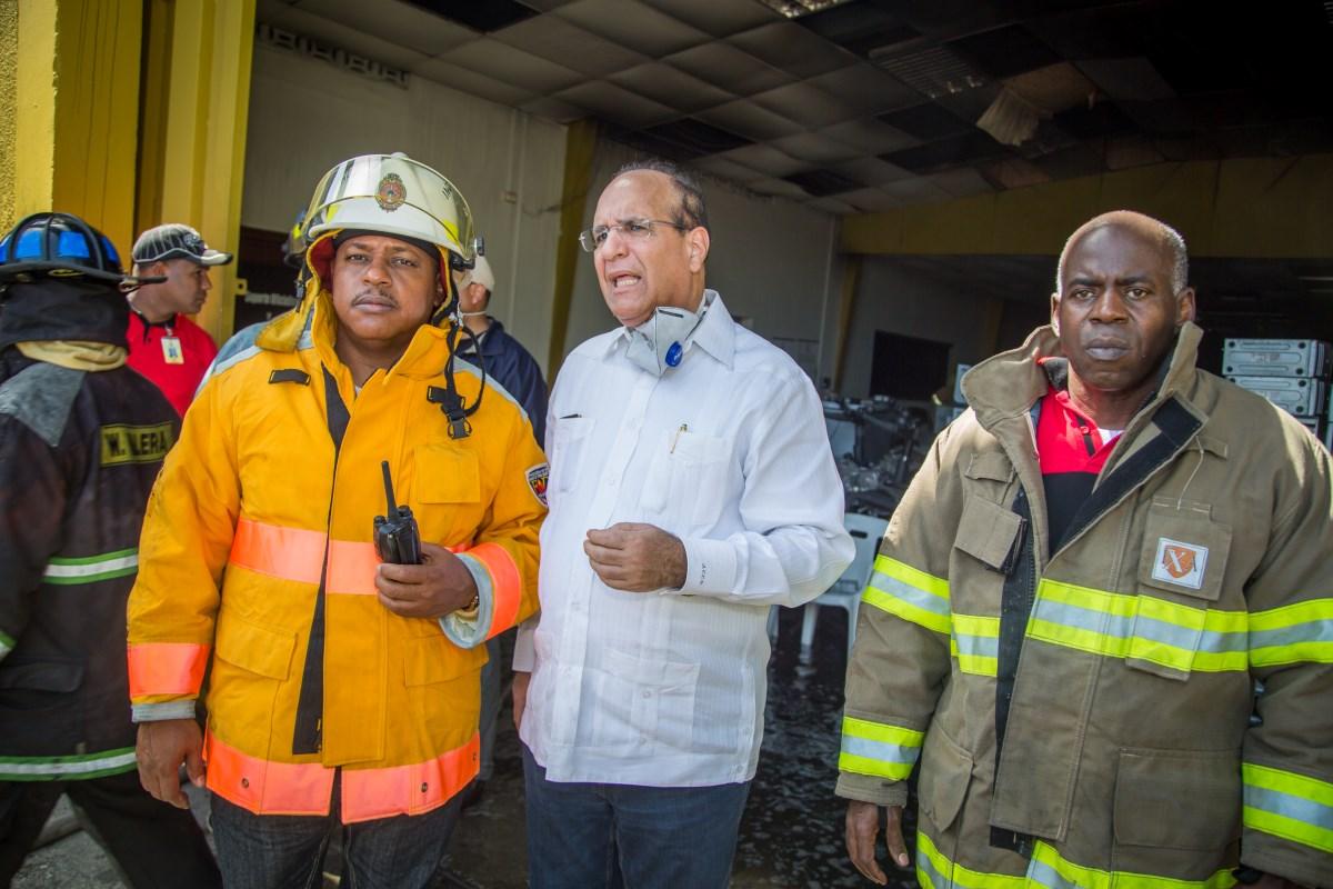 Presidente JCE informa incendio fue sofocado gracias a eficacia del Cuerpo de Bomberos