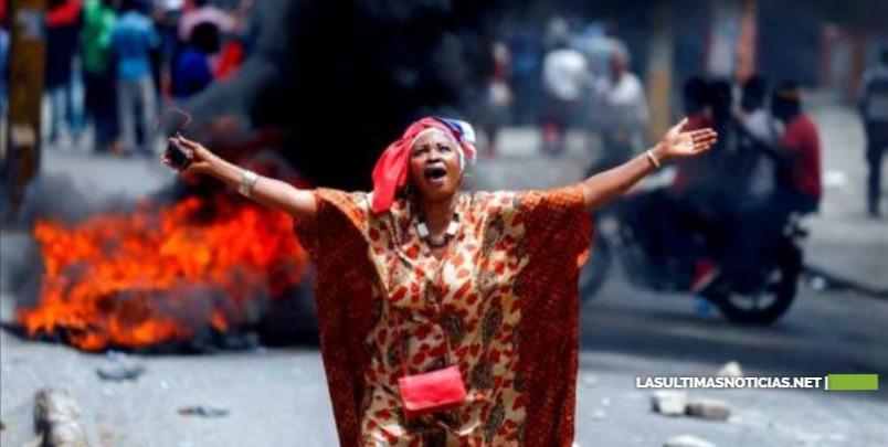 Dos muertos y locales quemados en continuación de protestas en Haití