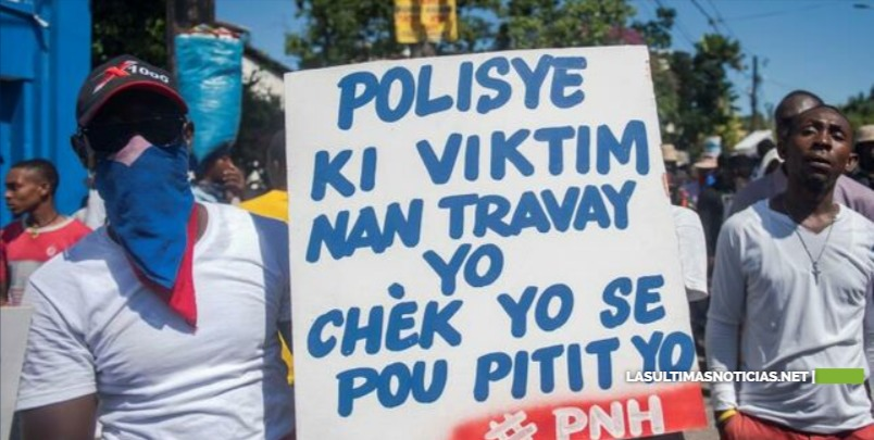 Policías de Haití vuelven a manifestarse por mejores condiciones laborales