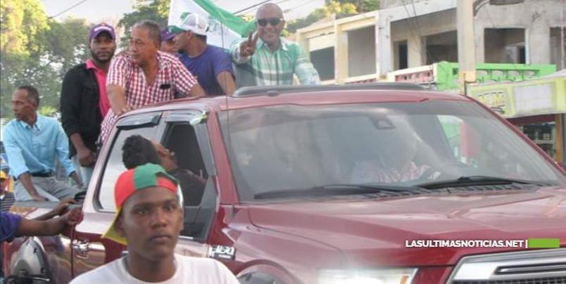 Barahona: Candidatos del PRI realizan masiva caravana de cierre de año