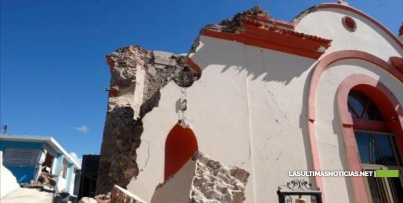Temblor desploma histórica iglesia Inmaculada Concepción en Puerto Rico