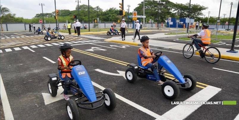 Parque Educación Vial de Ciudad Juan Bosch recibe 2,400 visitas en los primeros tres meses
