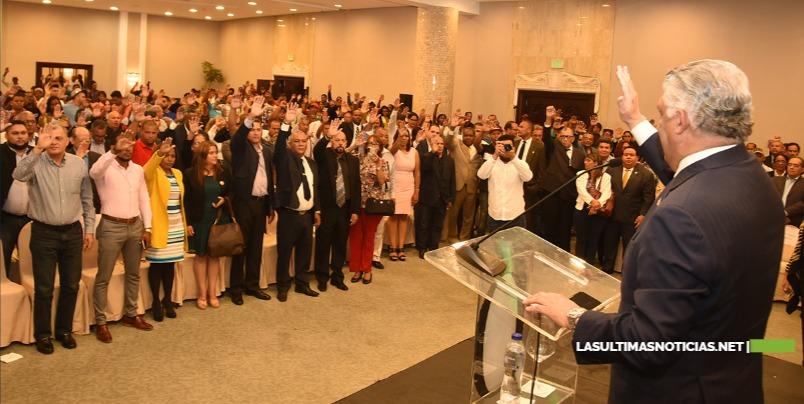 PRD juramenta centenares de dirigentes del PRM, PRSC, BIS, Fuerza del Pueblo, Cívico Renovador y Verde Dominicano