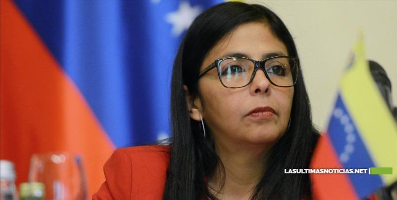 Delcy Rodríguez VicePresidenta de Venezuela acusa a la derecha española de doble moral por apoyo a Juan Guaidó