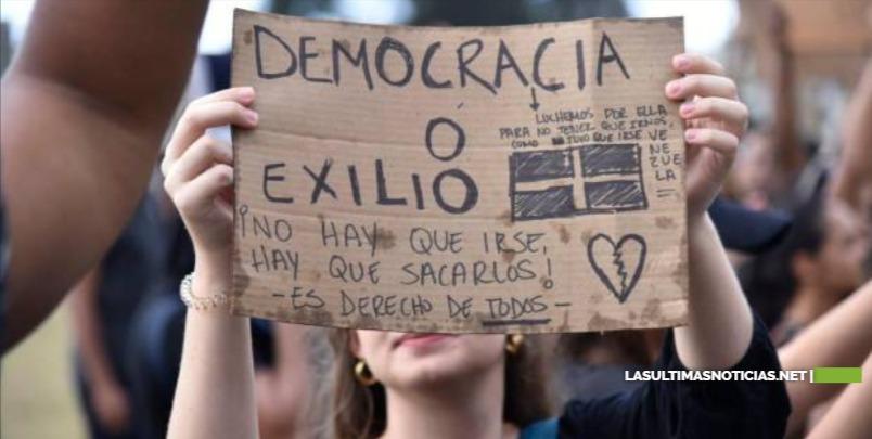 Manifestantes insisten en que el pleno de la Junta Central Electoral debe renunciar
