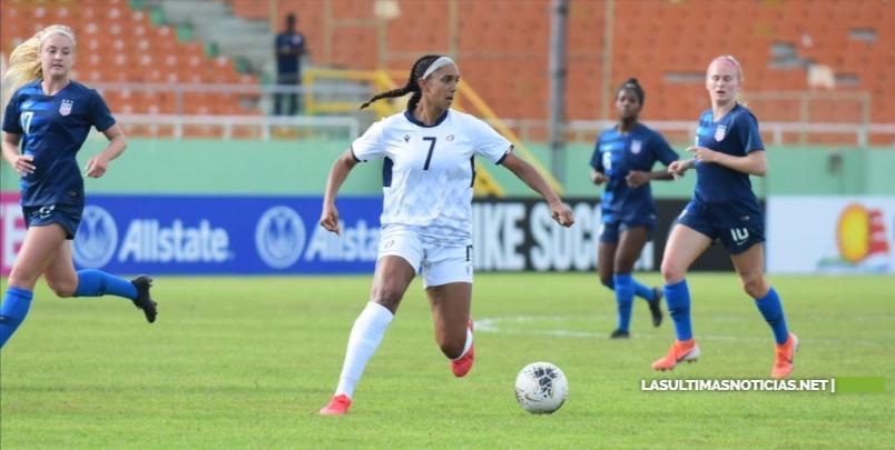 La seleccion dominicana de fútbol Sub-20 femenina cayó ante USA