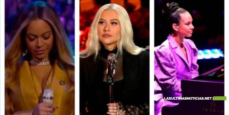 Beyoncé, Alicia Keys y Christina Aguilera cantan en homenaje a Kobe Bryant