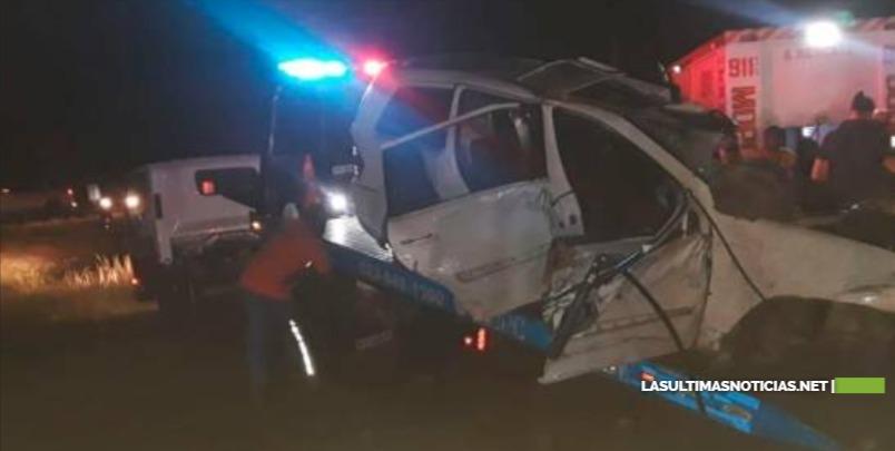 Mueren cuatro personas en dos accidentes en autopista Duarte