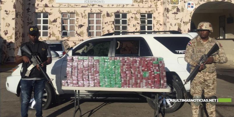 CESFRONT detiene jipeta con 40 mil unidades de cigarrillos