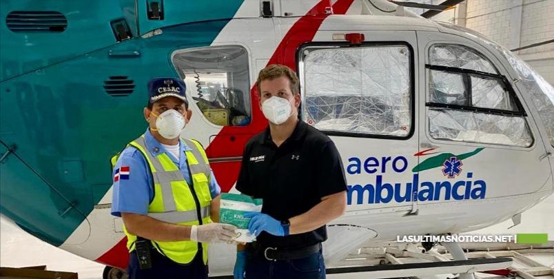 Gonzalo Castillo entrega mascarillas N95 y litros de alcohol al cesac para enfrentar el Covid-19