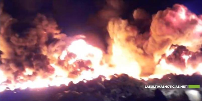 Reportan fuego en vertedero de Rafey en Santiago