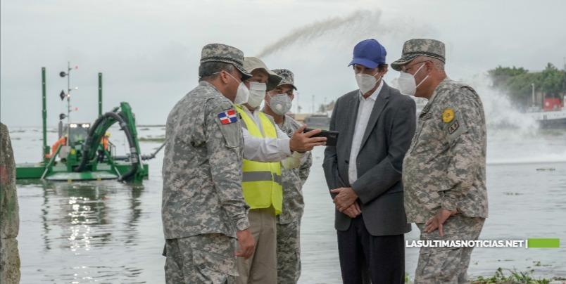 Ministro Montalvo anuncia adquisición de draga multipropósito para limpieza del cauce de ríos y puertos