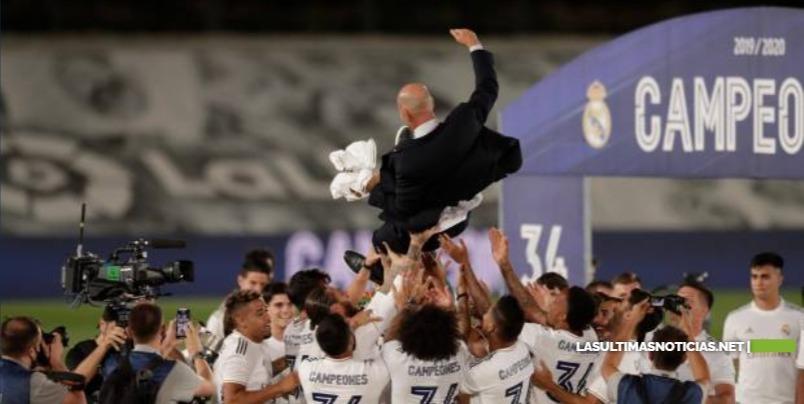El Real Madrid logra su 34º título de campeón de la Liga española
