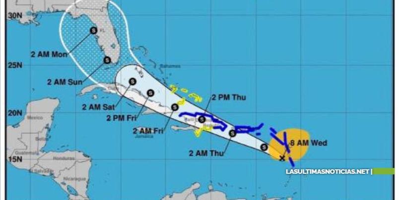 Tormenta Isaías tocaría tierra dominicana entre 2:00 y 4:00 p.m.