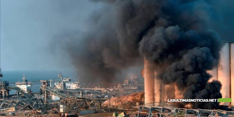 Revelan la causa de la enorme explosión en el puerto de Beirut en Líbano