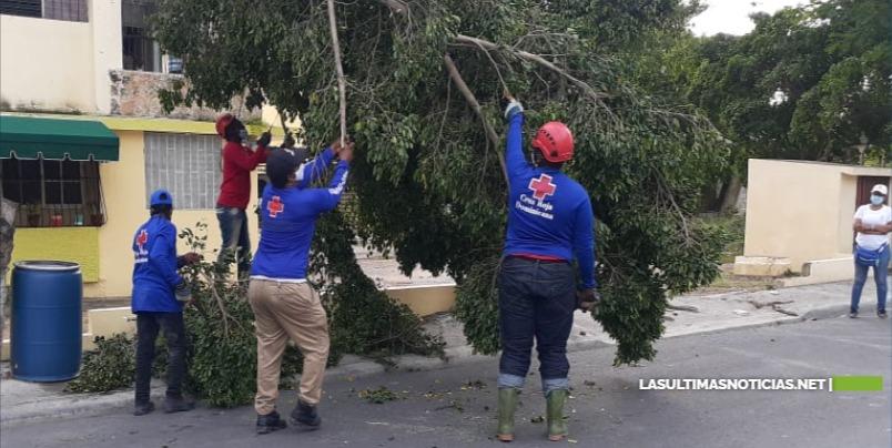 Cruz Roja Dominicana realiza evaluaciones de daños luego del paso de la tormenta Laura