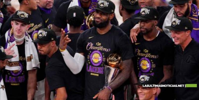LeBron James y  Los Angeles Lakers ganan el título del COVID-19 en memoria de Kobe Bryant