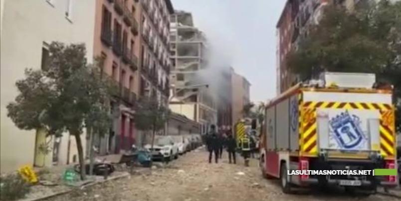 Aumentan a tres los muertos en explosión en el centro de Madrid
