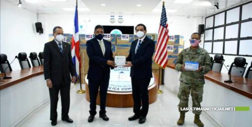 Comando Sur de Estados Unidos dona 200 mil jeringas a RD para combatir el COVID
