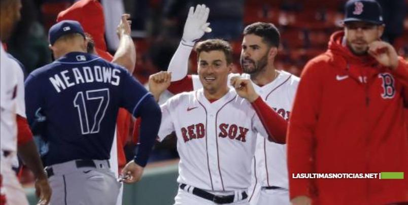 Los Medias Rojas de Boston derrotan 9-2 a  Los Rays de Tampa Bay y barren serie