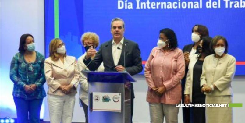 Presidente Luis Abinader asegura gobierno está comprometido con aumento real del salario