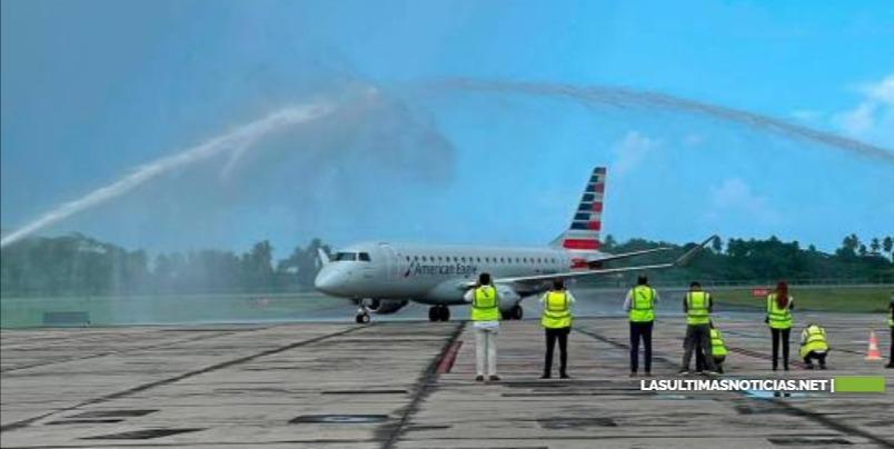 American Airlines inaugura quinto destino dominicano con vuelo entre Samaná y Charlotte