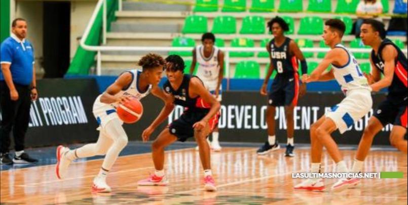 Estados Unidos se impone a República Dominicana en Campeonato Fiba U-16