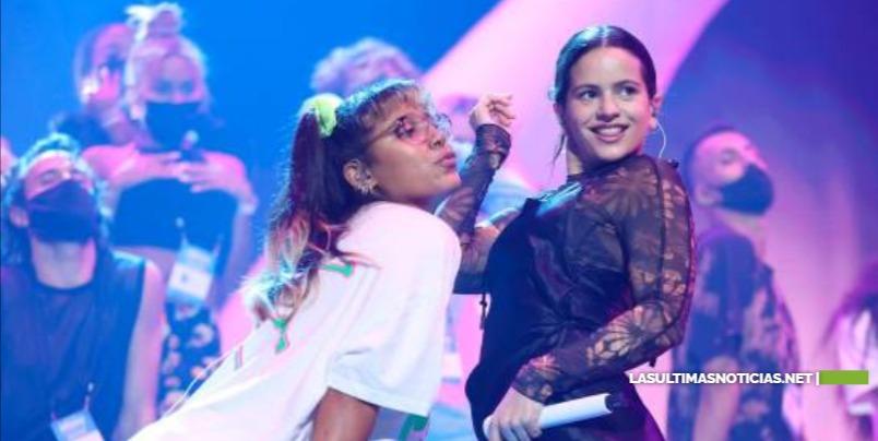 Tokischa y Rosalía en los ensayos de Premios Billboard de la Música Latina