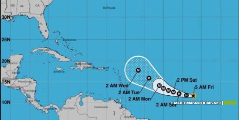 Sam, séptimo huracán de 2021 en el Atlántico y que puede alcanzar categoría mayor este viernes